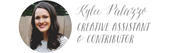 Kylee Palazzo - Creative Assistant and Contributor for The Inspired Room blog