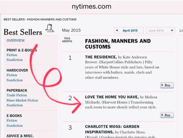 New York Times Best Seller!