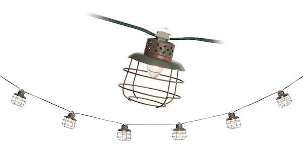 Outdoor Cage Lantern String Lights - String Light Roundup
