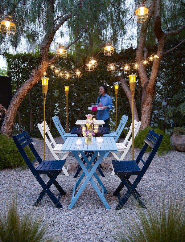 Outdoor Cage Lantern String Lights