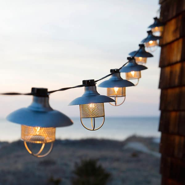 Outdoor string lights gather the inspired room for Industrial outdoor lighting