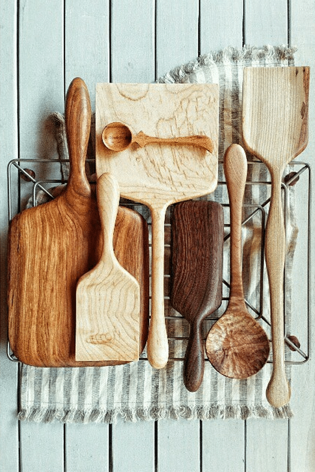 Beautiful Collections {Wooden Spoons and Spatulas}