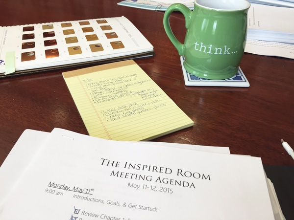 The Inspired Room Behind the Scenes Book Creation
