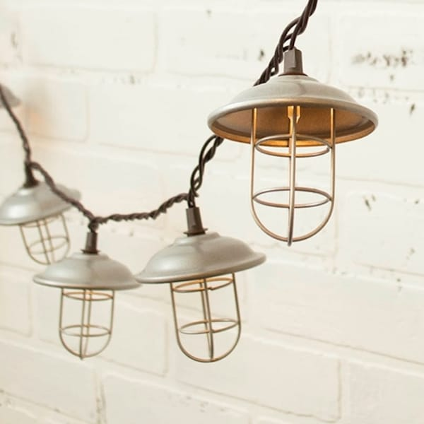 Warm White Industrial String Lights - String Lights Round Up