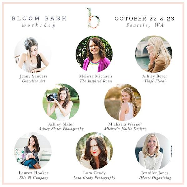 Bloom Bash {A Creative Workshop in Seattle!}