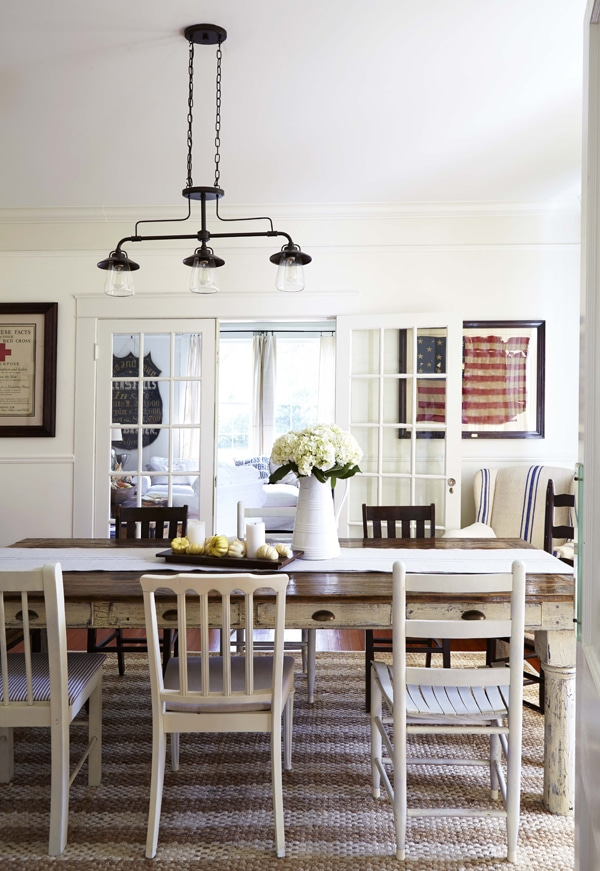 Inspired by mismatched dining chairs the inspired room for Casual dining lighting