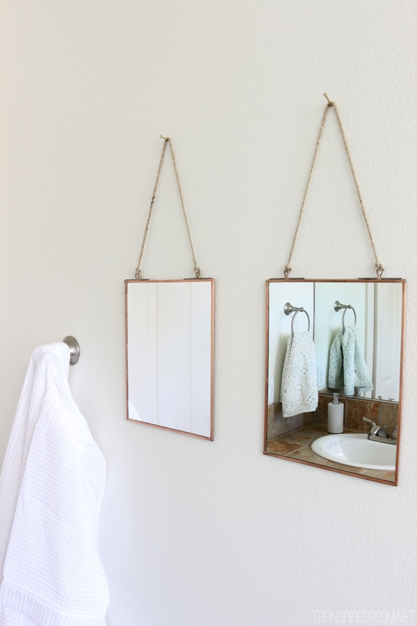 Copper Framed Mirrors - The Inspired Room Bathroom Refresh