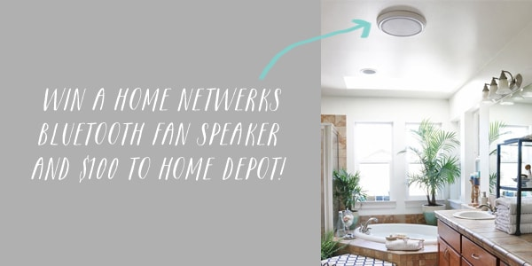 weekend giveaway {$100 home depot & a bluetooth speaker fan