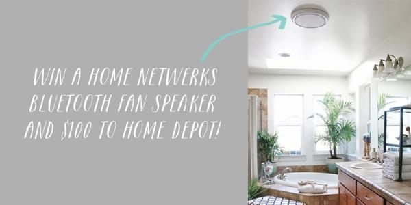 Weekend Giveaway {$100 Home Depot & A Bluetooth Speaker Fan!} CLOSED
