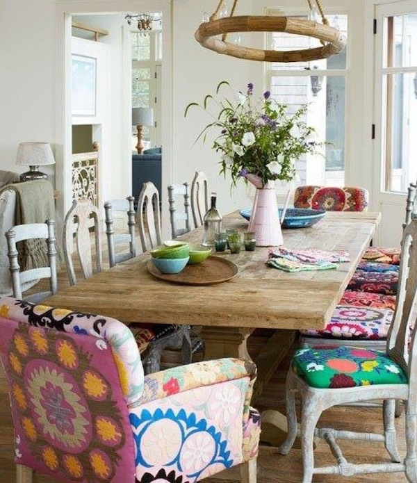 {Inspired By} Mismatched Dining Chairs