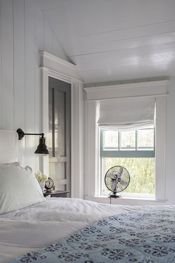Summer Bedroom  - White Paneled Walls