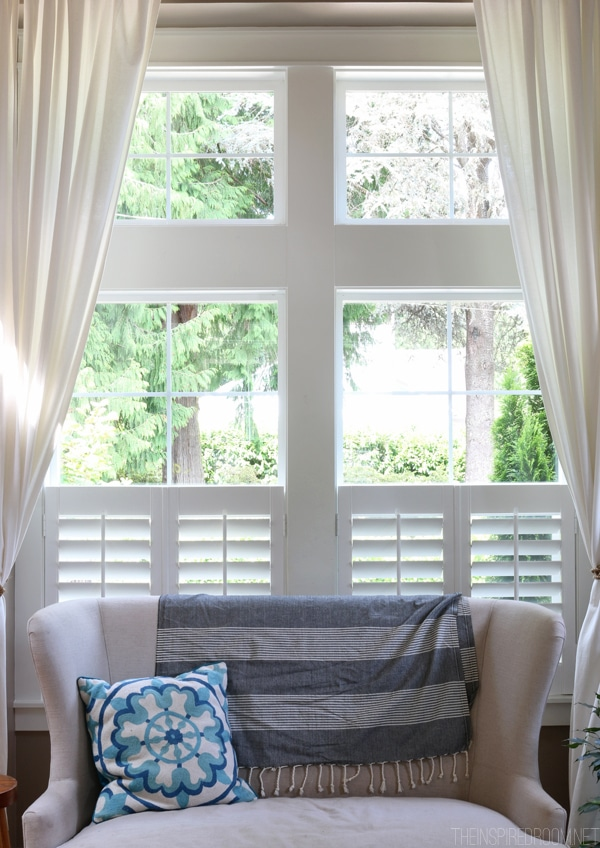 Curtains over california shutters curtain menzilperde net Are plantation shutters still in style 2017