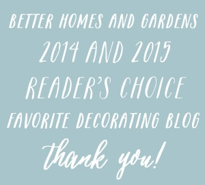 The Inspired Room blog - Better Homes and Gardens Readers Favorite Decorating Blog