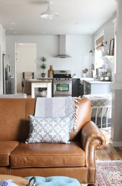 The Inspired Room blog - Family Room and Kitchen