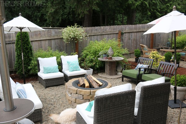 Backyard Tour - Pea Gravel Patio - The Inspired Room