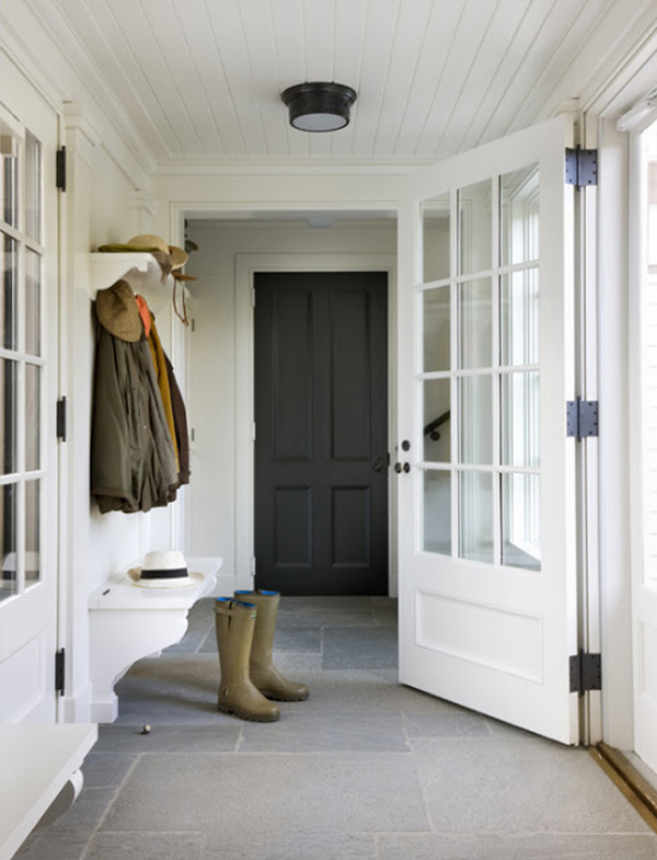 The entry hallway inspiration and progress the for Mudroom floor ideas