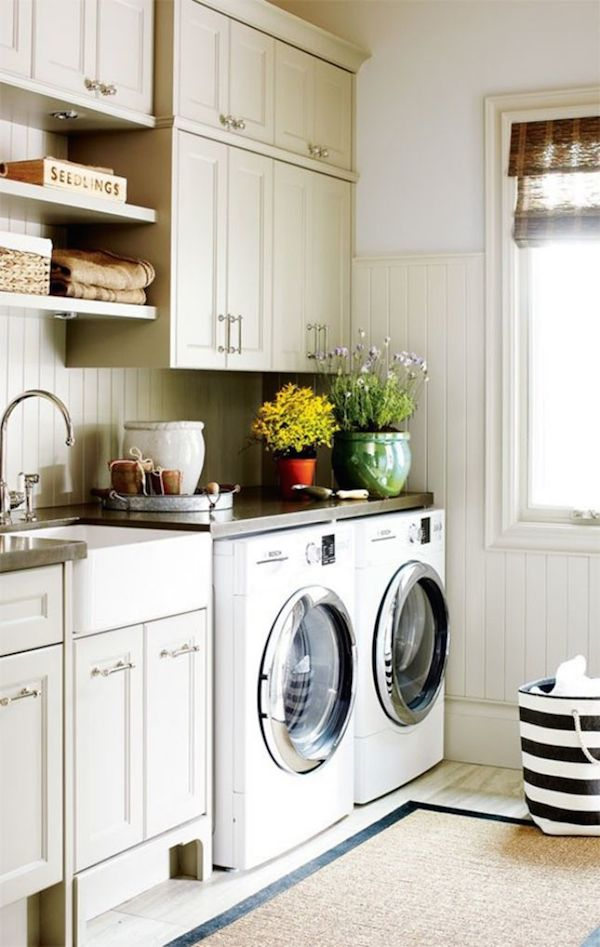 Pretty Organized Laundry Room Inspiration
