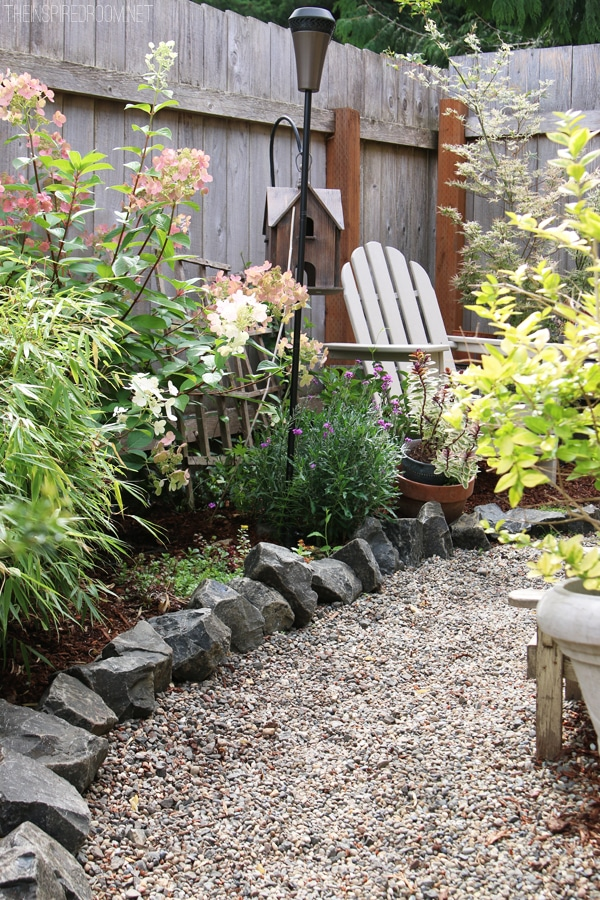 My Backyard Tour {Pea Gravel Patios, Flagstone & Secret ... on Pea Gravel Yard Ideas id=75311