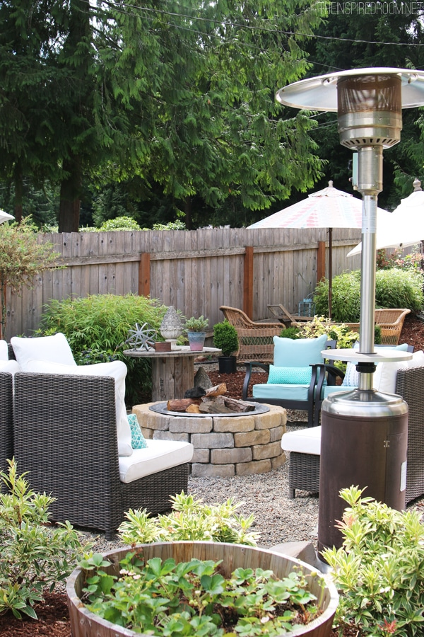 My Backyard Tour {Pea Gravel Patios, Flagstone & Secret ... on Pea Gravel Yard Ideas id=30526