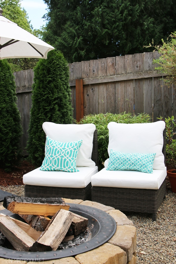 The Inspired Room DIY Firepit - Backyard Tour