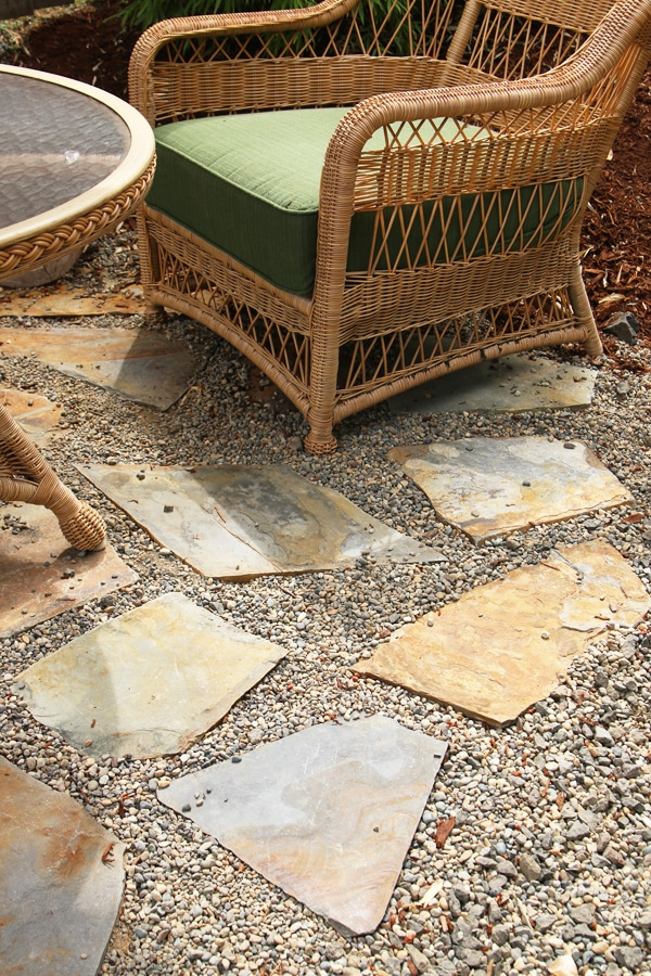 My Backyard Tour Pea Gravel Patios Flagstone Amp Secret
