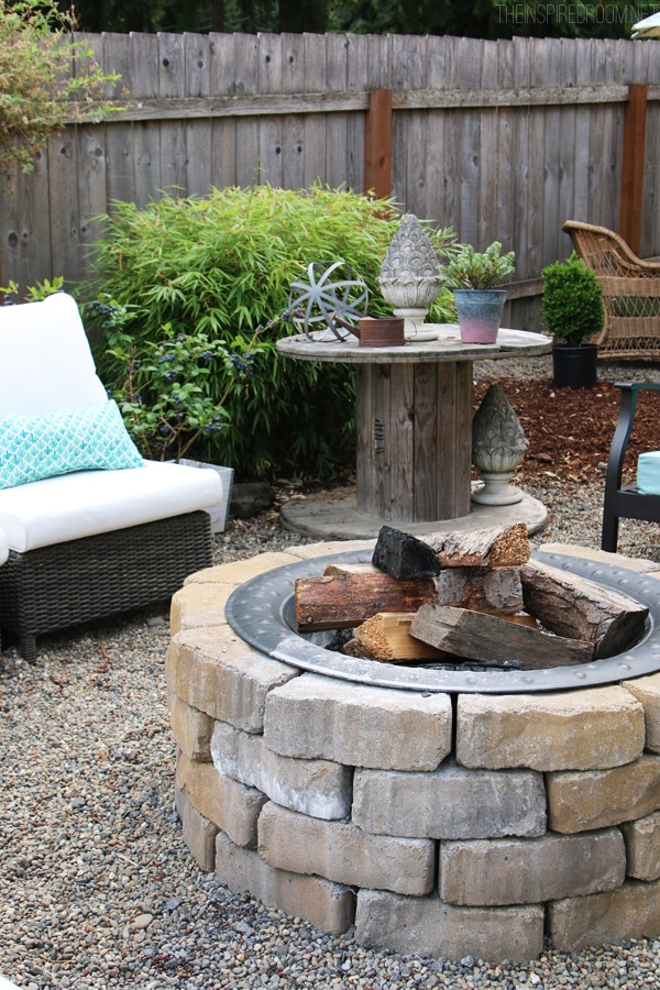 My Backyard Tour {Pea Gravel Patios, Flagstone & Secret Garden}