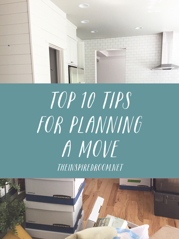 Top 10 Tips for Planning A Move {Part Two}
