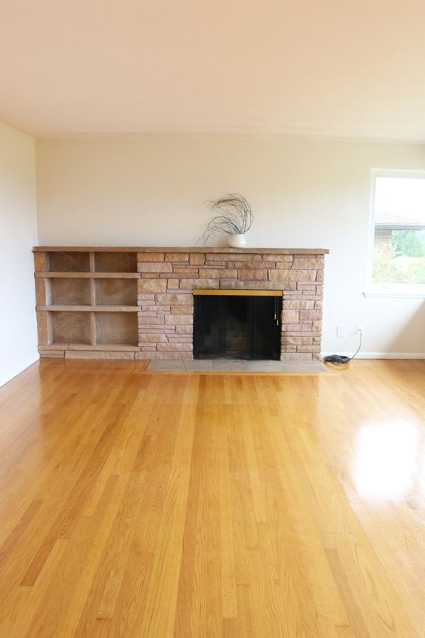 Fireplace Before - Living Room