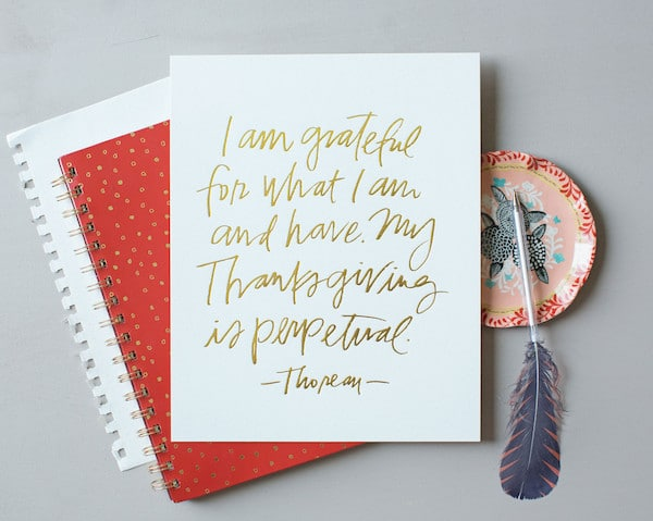 Perpetual Thanksgiving Print - Lindsay Letters