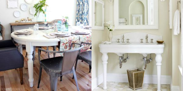 Table to vanity makeover inspiration