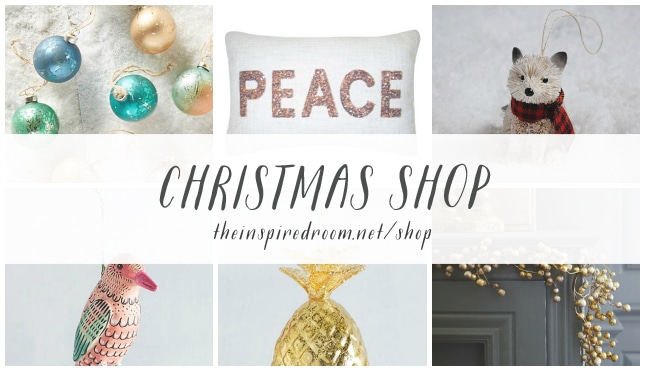 The Inspired Room Christmas Shop - Holiday Ornaments and Decorations
