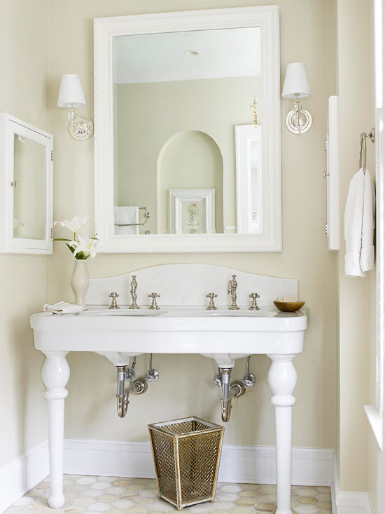{Inspiration} Repurpose Furniture into Bathroom Vanity