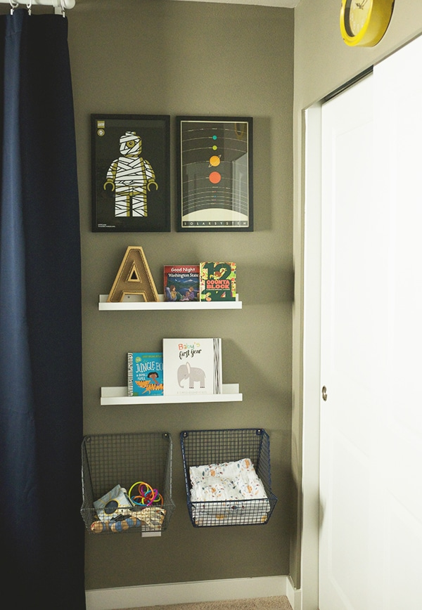 space themed nursery storage