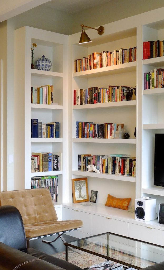 Vision for the dining room built ins my new house the inspired room - Contemporary built in bookshelves ...
