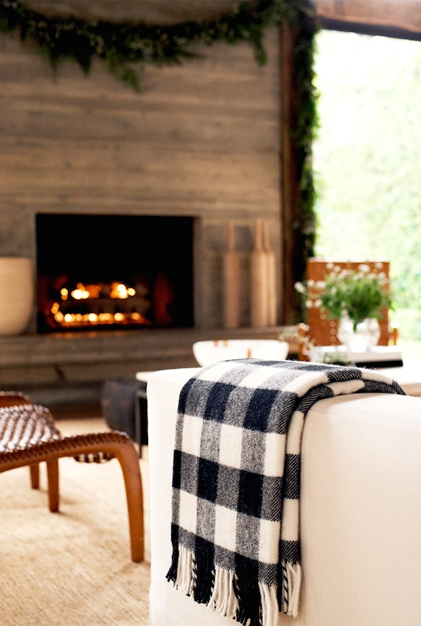 Cozy Fall Plaid Throw - Jenni Kayne Fairytale Holiday Party - Photo by Yayo Ahumada