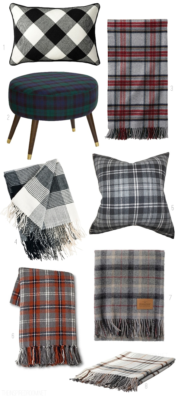 Fall Plaid Decor - The Inspired Room blog