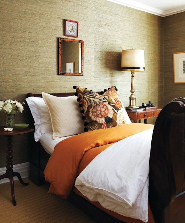 Grasscloth Bedroom - Tommy Smythe