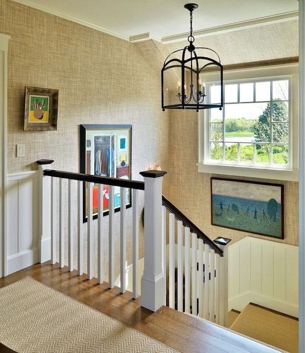 Grasscloth Wallpaper Stairway - Grasscloth Inspiration