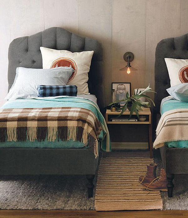 Kids Rooms - Tufted Beds and Cozy Fall Plaid Blankets