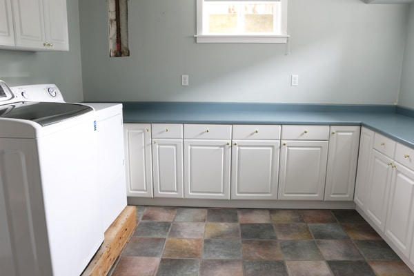 Laundry Room Before - The Inspired Room blog