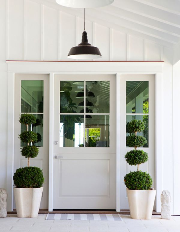 Dreaming of a dutch door my new house the inspired room Modern white front door