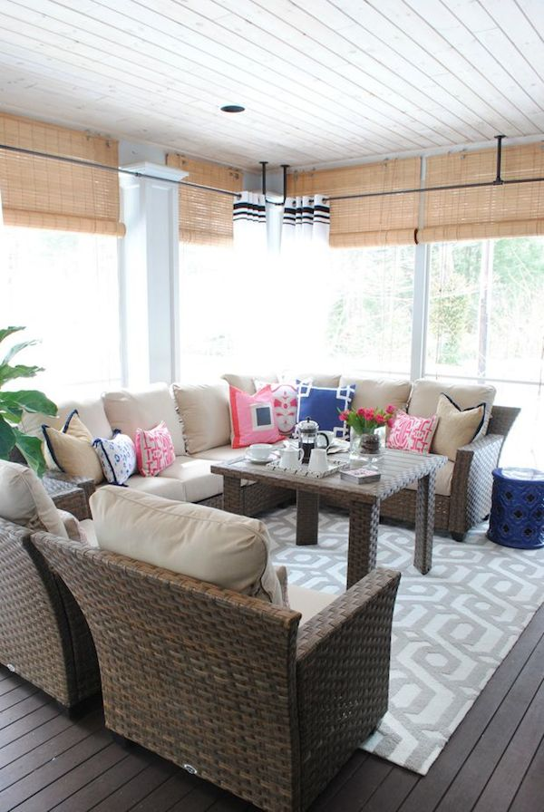 The Chronicles of Home - Pretty Screened Porch