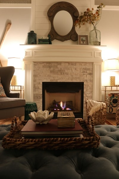 A Cozy Fireplace - The Inspired Room