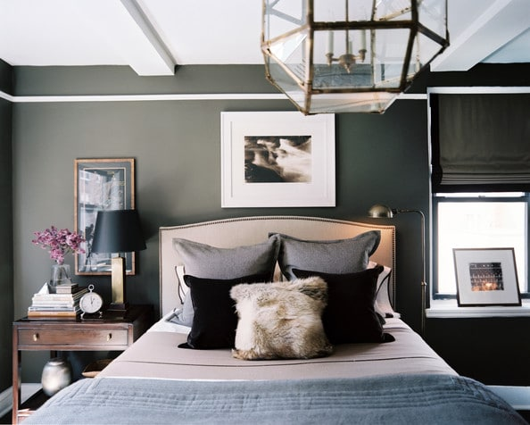 Charcoal Walls in the Bedroom
