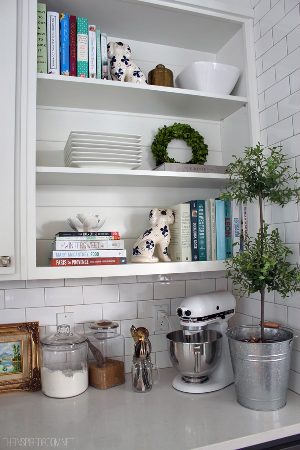 Christmas Kitchen Shelves by The Inspired Room