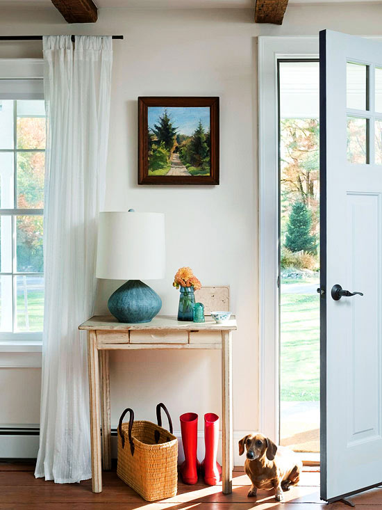 Entryway with Small Entry Console