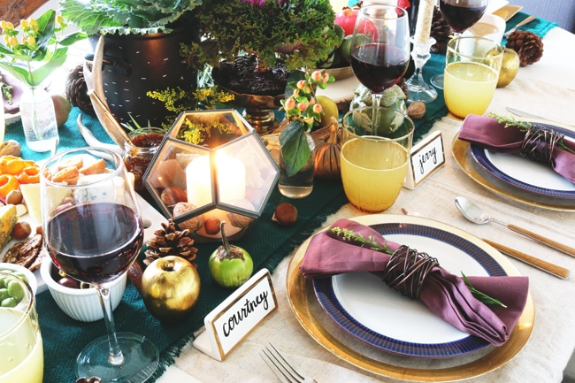 Fall Tablescape - Place Settings - The Inspired Room