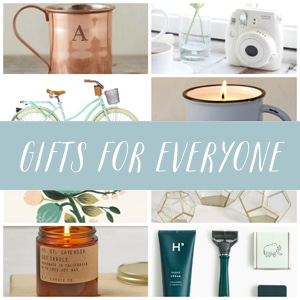 Gifts for Everyone - Gift Guides by The Inspired Room blog