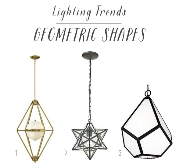 Lighting Trends - Geometric Shapes