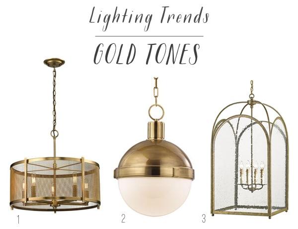 Lighting Trends - Gold Tones